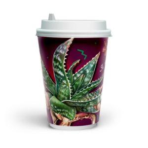 Papirnat kozarec 230 (250) ml dvoslojen, d=80 mm, Fleur di cafe