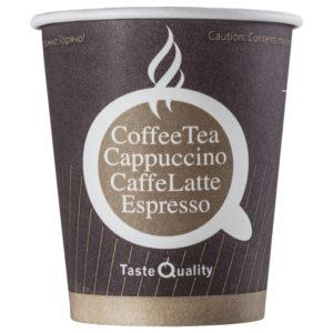 Čaša papirnata jednoslojna 250 (280) ml d=80mm za tople napitke kava TQ (75 kom/pak)