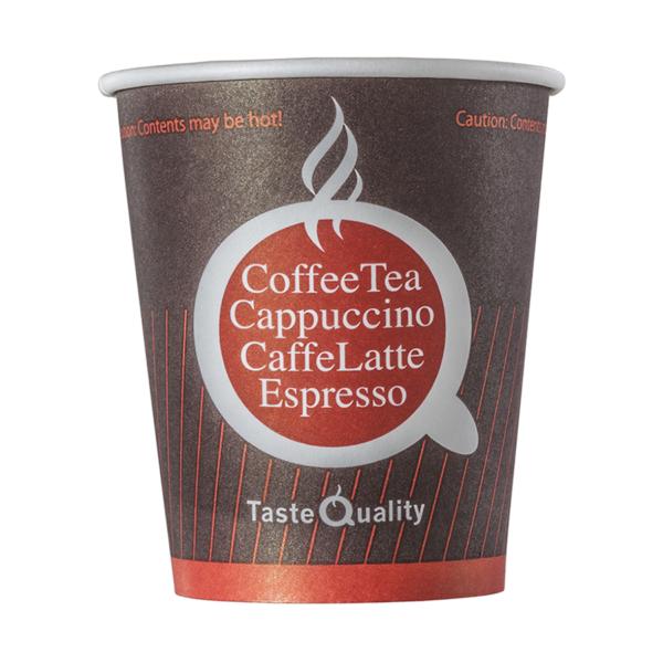 Čaša papirnata jednoslojna 180 (205) ml d=72mm za tople napitke kava TQ (80 kom/pak)