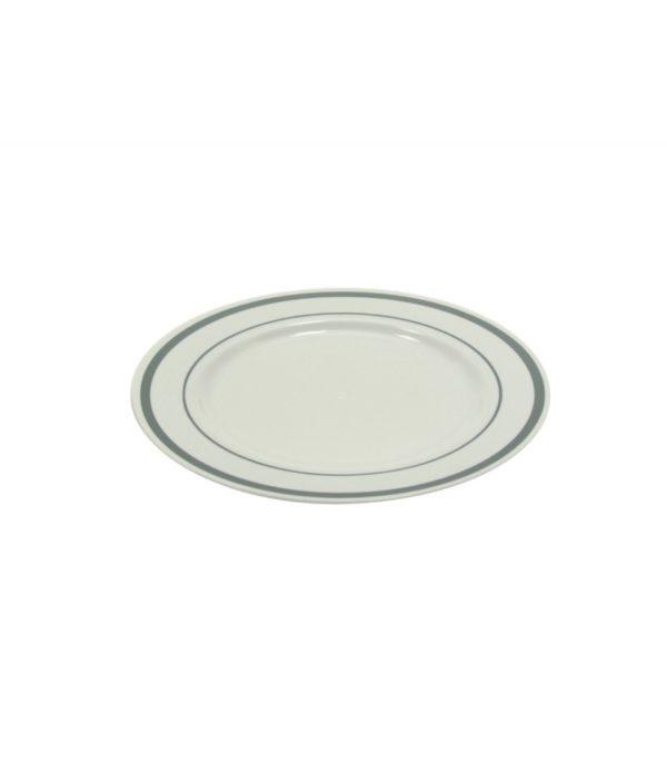 Tanjur PS Tambien d=190 mm bijeli sa srebrnom ivicom 10 kom/pak