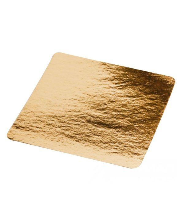Podmetač za torte karton 210×210 mm zlatna (50 kom/pak)