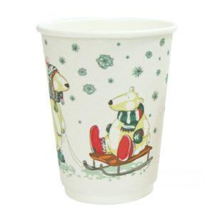 Papirnat kozarec Beli medvedi 300 ml dvoslojen, d=90 mm