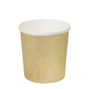Papirnata posuda za juhu 500 ml d=90 mm h=99 mm kraft (25 kom/pak)