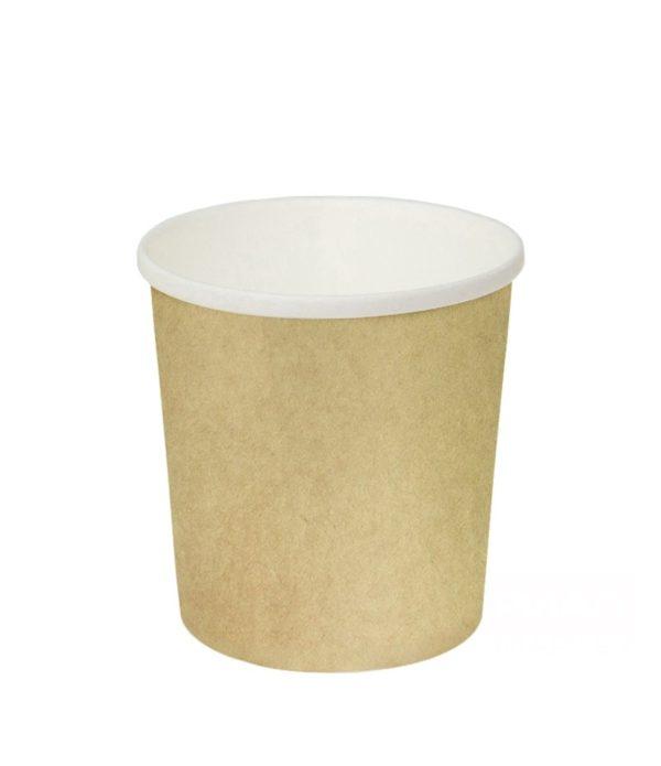 Posuda papirnata zd=90mm h=99mm 500 ml, za topla jela kraft (25 kom/pak)