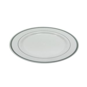 Tanjur PS TaMbien d=230 mm bijeli sa srebrnom ivicom 10 kom/pak