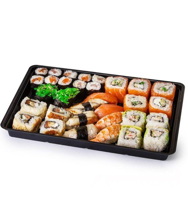 Posuda za sushi PS 306х216х43 mm črna (200 kom/pak)