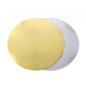Podmetač za torte karton d=240 mm zlato/srebro (50 kom/pak)