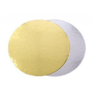 Podmetač za torte karton d=200 mm zlatna/srebrna (50 kom/pak)