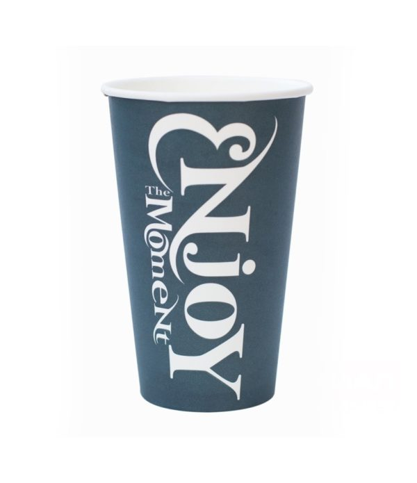Čaša papirnata Enjoy the Moment 400 ml, d=90 mm (50 kom/pak)