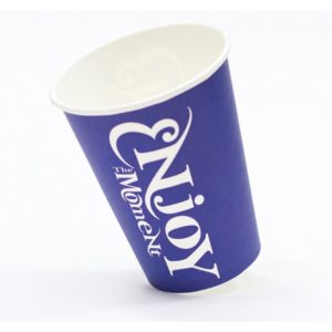 Čaša papirnata 300 ml d=90 mm 1-slojna Enjoy the Moment (50 kom/pak)