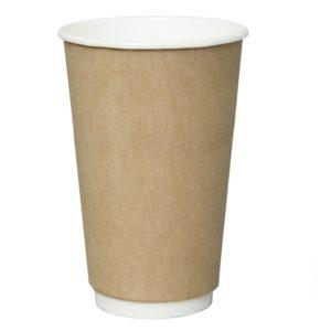 Čaša papirnata 400 ml  d=90 mm 2-slojna kraft (18 kom/pak)