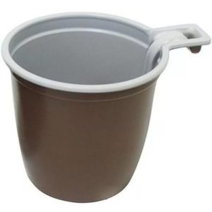 Šalica za kafu 180 ml bjelo smeđa INT (50 kom/pak)