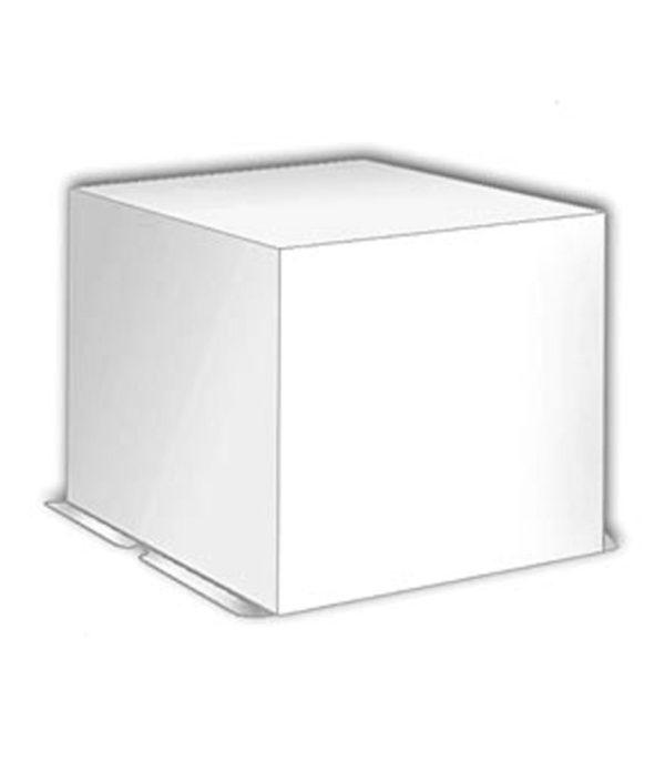 Kutija za torte (poklopac) 300х300х250 mm 3 kg bijela karton (20 kom/pak)