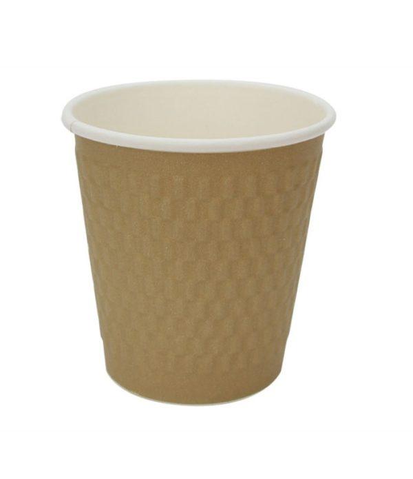 Čaša papirnata troslojna 200 (250) ml d=80mm valovita, cigla (25 kom/pak)