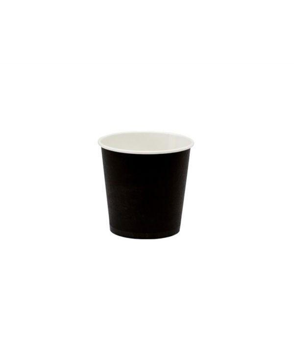 Čaša papirnata 100 ml d=62 mm 1-slojna crna (60 kom/pak)