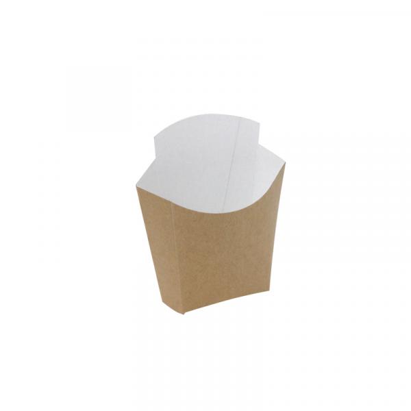 Kutija za pomfrit velika kraft CHIP SCOOP 81/69 x 49/43 x 71/125 (25 kom/pak)