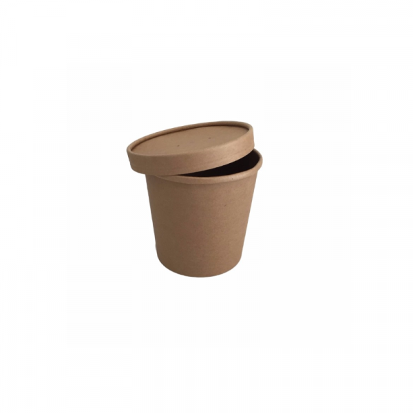 Poklopac za posudu za jušna  jela 450 ml kraft (25 kom/pak)