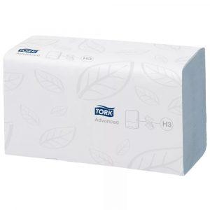 Ubrusi ZZ presavijeni 2-slojni 250l/pak TORK ADVANCED H3 bijeli
