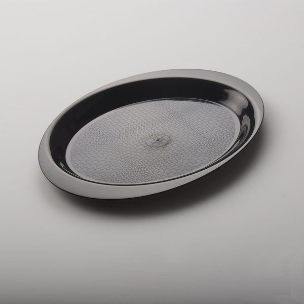 Tacna za predjelo oval 18,5 cm PP crna Gold Plast (50 kom/pak)