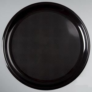 Poslužavnik za picu okrugli 35 cm PP crni Gold Plast (12 kom/pak)
