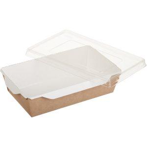 Papirnata posuda s prozirnim poklopcem ECO OpSalad 800 ml 186х106х55 mm kraft (150 kom/pak)