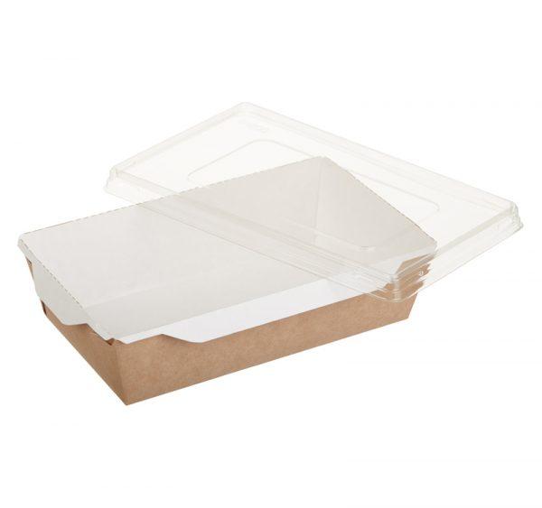 Papirnata posuda s prozirnim poklopcem ECO OpSalad 800 ml 186х106х55 mm kraft (200 kom/pak)