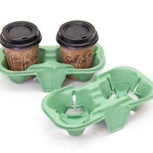 Držač za 2 čaše 193х108х42 mm zelene (110 kom/pak)