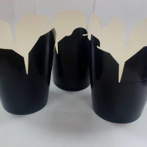 Posuda papirnata PKR 138х94х98,4mm 700ml crna, okruglo dno (450 kom/pak)