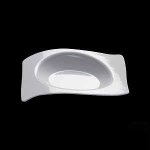 Fingerfood posudica Gold Plast 220×180 mm FORMA bijela (12 kom/pak)