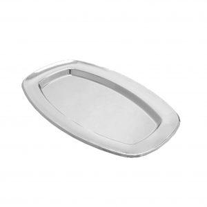 Tacna oval PET 330 x 240 Gold Plast  srebrna (5 kom/pak)