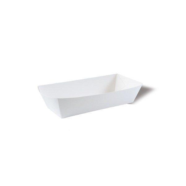 Čamac za hotdog 145x50x30 mm bijeli (100 kom/pak)