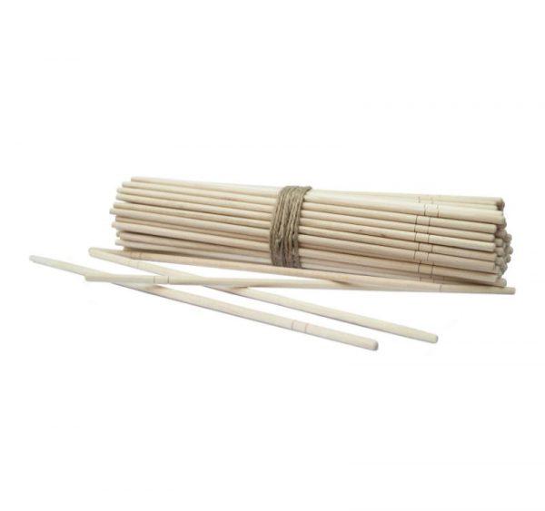 Drveni štapići okrugle za jelo, pojedinačno zamotani (100 kom/pak)