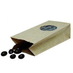 Papirnata vrećica s pravokutnim dnom 170х80х50 mm kraft, prozor 5 (600 kom/pak)