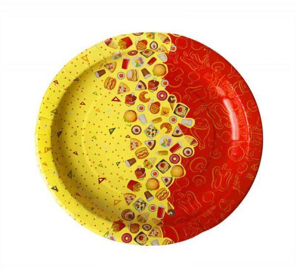 Papirnati tanjur d=225 mm Rog Izobilja (100 kom/pak)