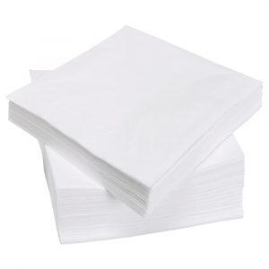 Salvete papirnate 25×25 cm TaMbien 100 kom/pak bjele