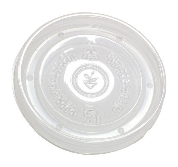 Posuda papirnata d=90mm h=85mm 300 ml bijela za topla jela s poklopcem, 500 kom (komplet)