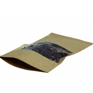 Vrećica papirnata Zip-Lock 225х135х45 mm, kraft, prozor 6.5 (50 kom/pak)