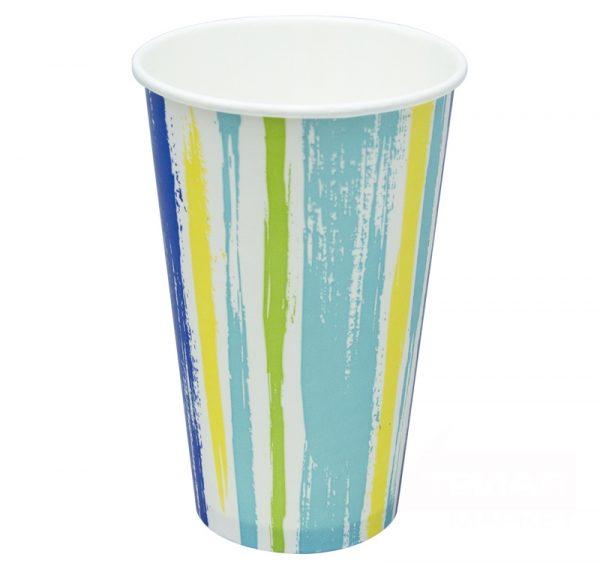 Čaša papirnata 1sloj 400 (518) ml d=90mm za hladna pića Pruge (50 kom/pak)