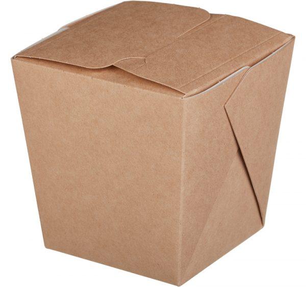 Posuda papirnata za rezance ECO NOODLES 90х90х100 mm 560 ml lijepljena, kraft, s ručkom (35 kom/pak)