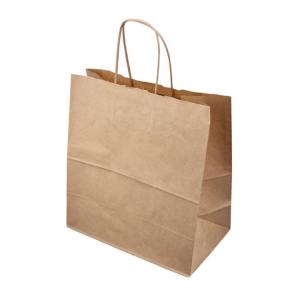 Papirnata vrećica s pletenom ručkom 320х200х320 mm kraft (200 kom/pak)
