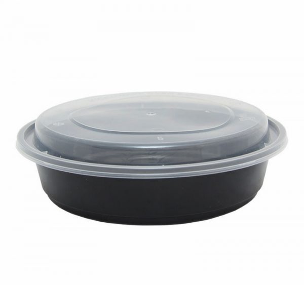 Posuda PP TaMbien 170х55 mm 700ml crna s poklopcem (150 kom/pak)