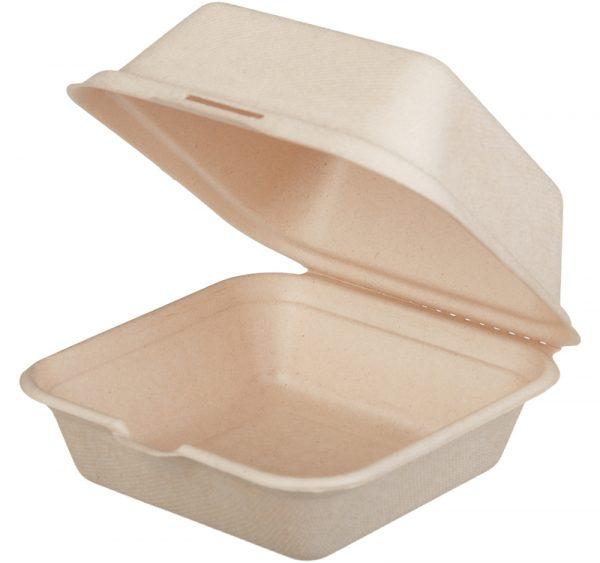 Kutija za hamburger preklopnaTF Tambien ECO 156x158x88mm, Kraft (50 kom/pak)