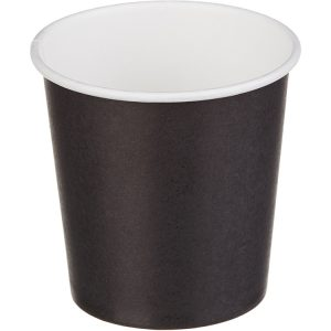 Čaša papirnata 1sloj 100 (109) ml d=62mm za topla pića crna (50 kom/pak)