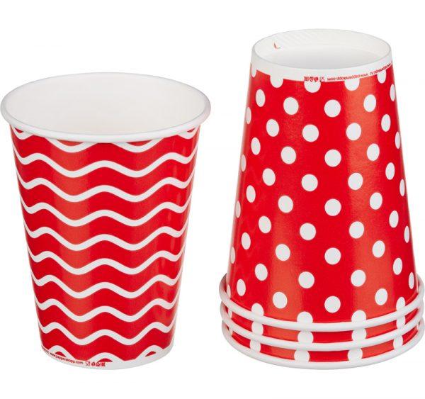 Čaša papirnata 300 ml d=90 mm 1-slojna Lollipop za hladna pića (50 kom/pak)
