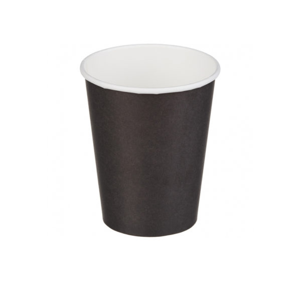 Čaša papirnata 250 ml d=80 mm 1-slojna crna (50 kom/pak)
