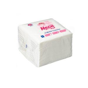 Papirnate salvete 1sl 24×24 cm Nega bjele 100 l/pak