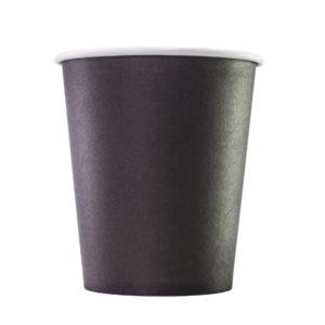 Čaša papirnata 1sloj 250 (280) ml d = 80 mm za tople napitke, crna (75 kom/pak)