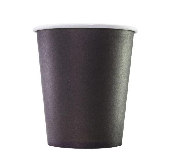Čaša papirnata 250 ml d=80 mm 1-slojna crna (75 kom/pak)