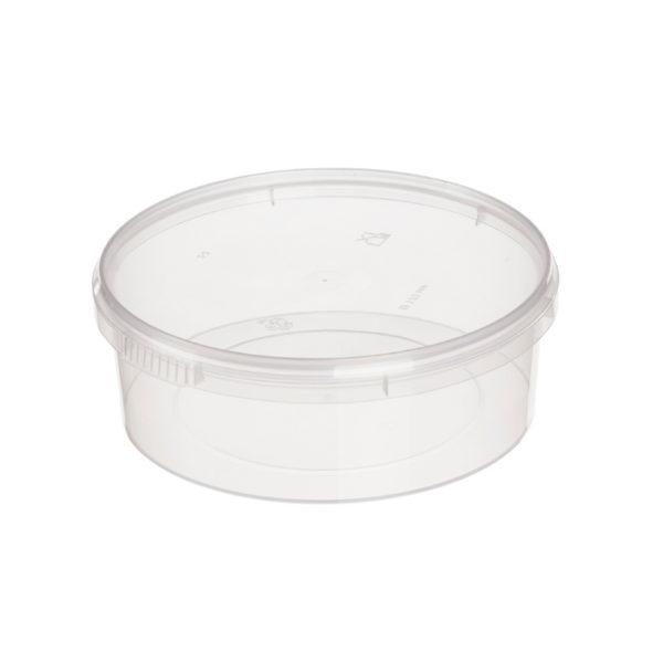 Posuda za delikatešo PP 725 ml d=170 mm h=47 mm prozirna (240 kom/pak)