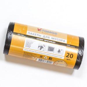 Vreća za otpad 120l crna (20 kom/rola) ToMoS